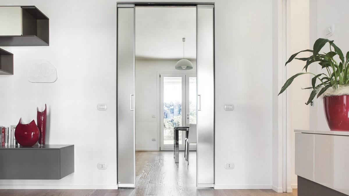Maroldt porte Eclisse coulissante Verre & Aluminium